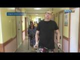 Учимся заново ходить певец Шура делает первые шаги после операции в Кургане