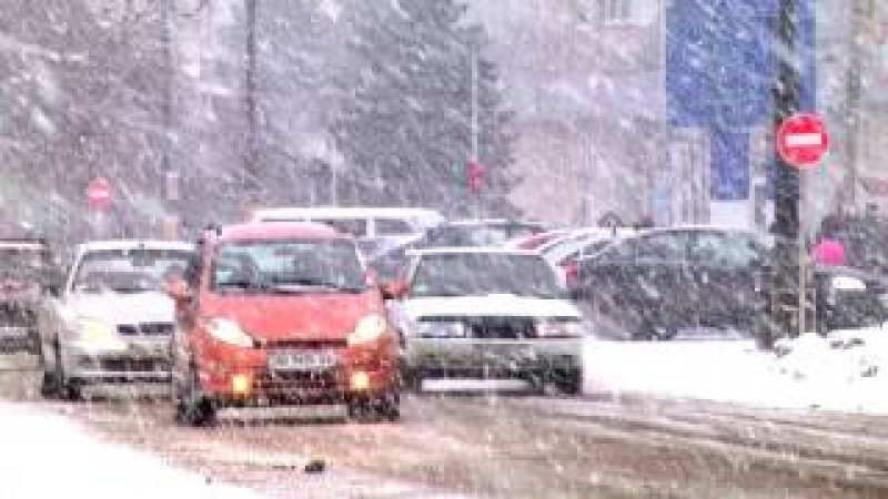 Зимний Лисичанск накануне Нового 2017 года