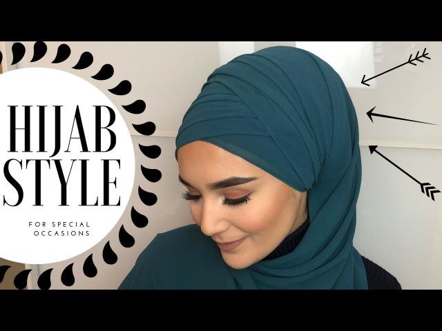 Folded Hijab Style I Occasional