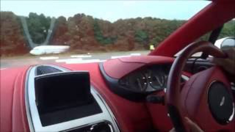 200 MPH Ride in Aston One 77 amazing sounds top speed run!