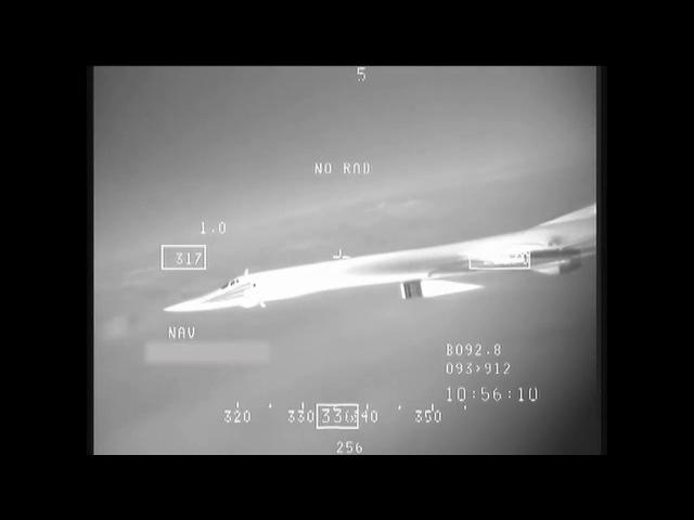 Tu-160 visto pela câmera termal de um F-16 belga