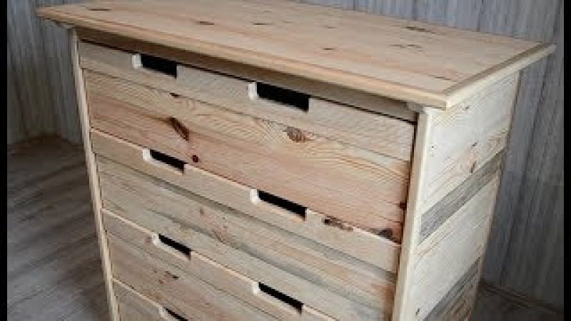 Chest of drawers from Wooden Pallets