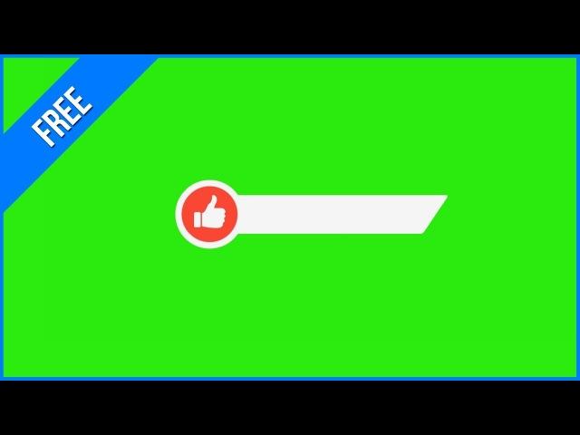 Barras de Like 1 - Like Lower Thirds 1 / Green Screen - Chroma Key