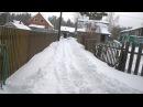 Минитрактор из мотоблока Нева Чистим снег на даче Homemade mini dozer