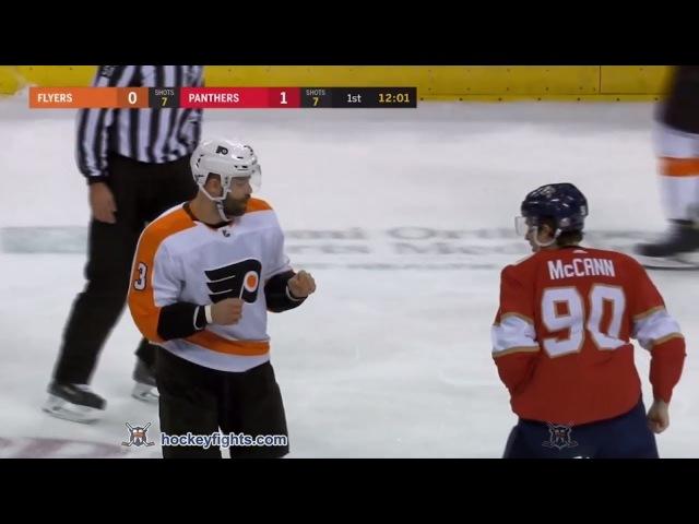 Radko Gudas vs Jared McCann Mar 4, 2018