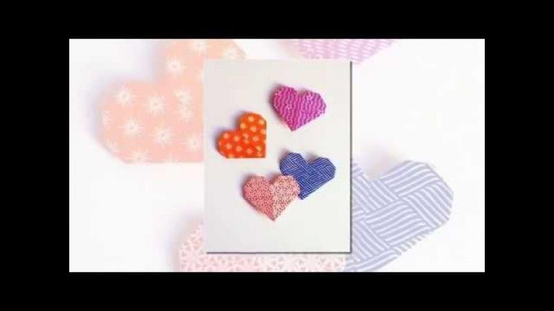 Закладка для книг. Сердечко в технике оригами. Tab for books. Heart in origami technique