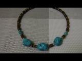 Украшения из бирюзы, жемчуга и коралла. Браслет, колье. exclusive jewelry from natural stones