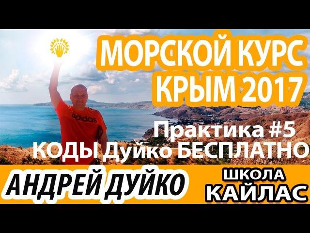5 Коды Дуйко БЕСПЛАТНО ⚜ Практики с Морского курса Крым 2017 ⚜ Андрей Дуйко