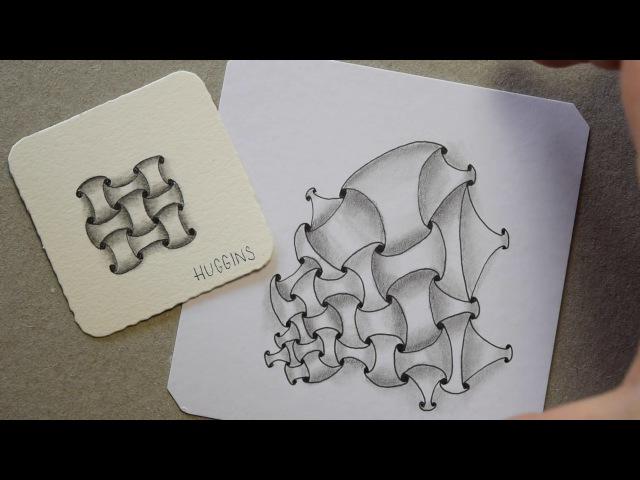 Zentangle® Muster: Huggins mit Variationen