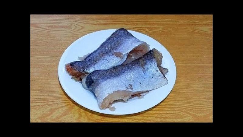 Как отделить филе хека от кости ⫷◆⫸ How to separate hake fillets from bone