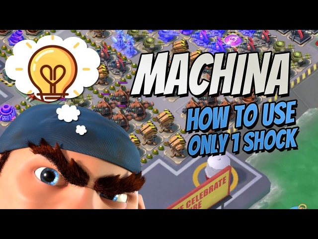 Boom Beach How to solo Machina with only one shock