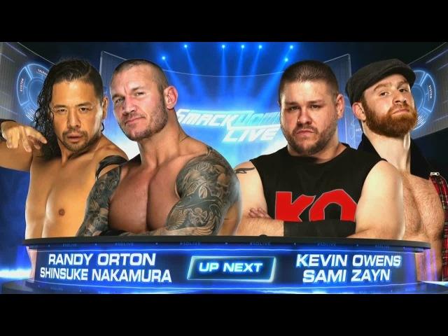 (Wrestling Premium) SmackDown Live | Shinsuke Nakamura Randy Orton vs. Kevin Owens Sami Zayn