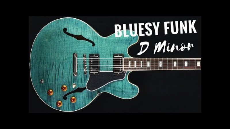 Bluesy Funk Guitar Backing Track Jam in D