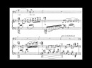 Arnold Schoenberg - Abschied for Baritone and Piano, Op. 1, No. 2 (1898) [Score-Video]