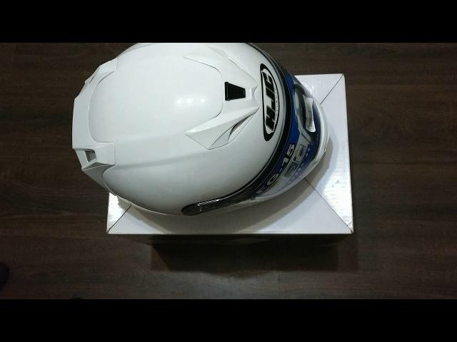 Обзор белого мотошлема HJC