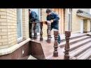 Эксклюзивное украшение фасада гранитом г.Кременчуг