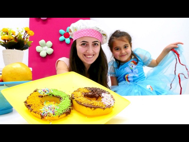 Mini Mutfak - Armuttan donut yapalım! Kız oyunları.