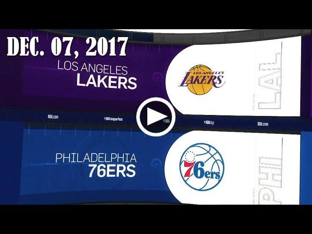 LА Lаkеrs - Philadelphia 76еrs | 07.12.17 | 201718 NBA Season