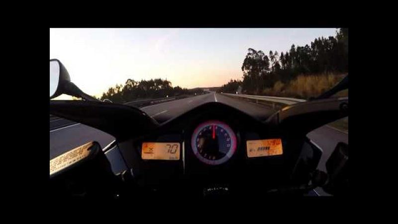Honda VFR 800 VTEC Acceleration 0-230kmh