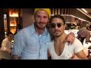 David Beckham Visit Nusret Steakhouse New York With His Family Salt Bae Cutting For David Beckham