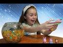 Сюрпризы в шариках орбиз, игрушки в стекляном шарике