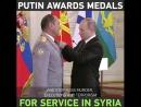 RT Play Putin entrega medalhas na cerimônia de premiação para militares russos em operação antiterrorismo na Síria