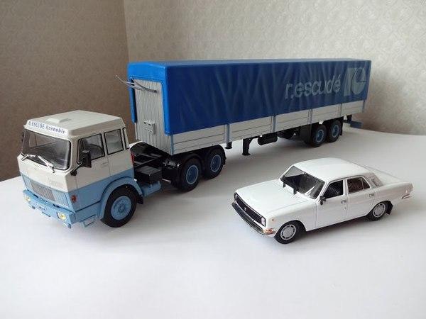 HANOMAG HENSCHEL HS19 transports Rene Escudé (Седельный тягач) 1:43 Camiones articulados №34