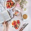 Вкусный завтрак и интересную книгу ничто не сможет заменить Наслаждайся минута…