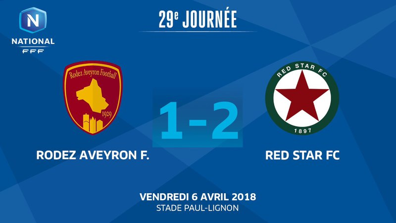 J29 : Rodez Aveyron F. - Red Star FC (1-2), le résumé I National FFF 2018