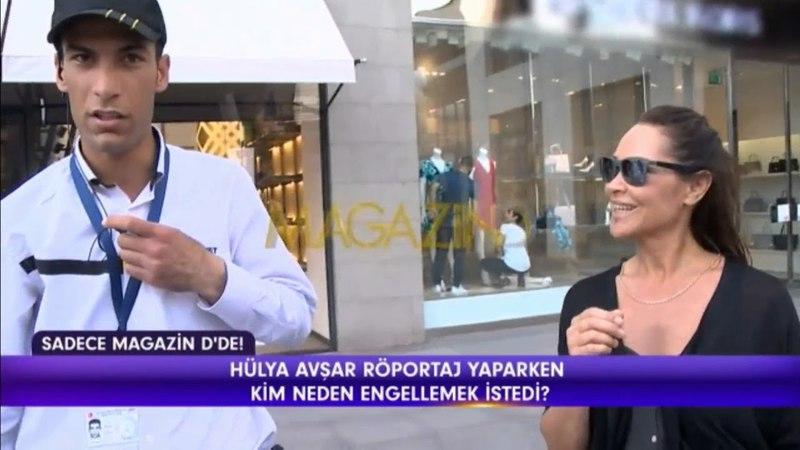 Hülya Avşar AVM de Röportaj Vermesi Engellenince Köşe Kapmaca Oynadı !