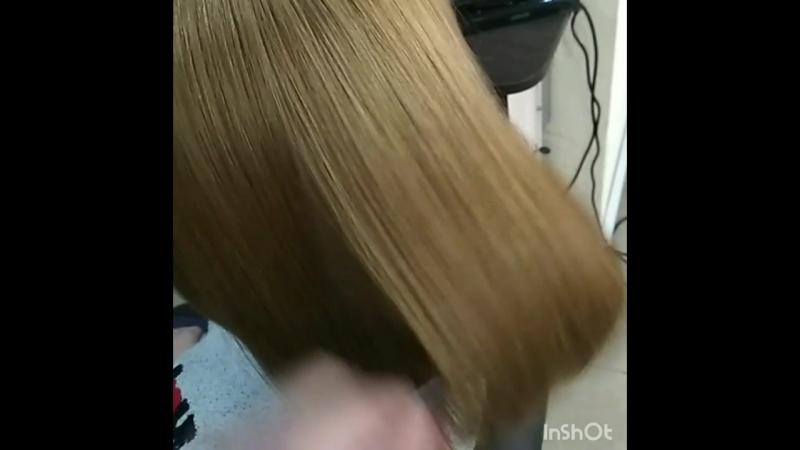 Окрашивание волос, из темного цвета в блонд)