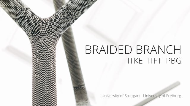Braided Branch Large Scale Demonstrator - BauBionik Exhibition