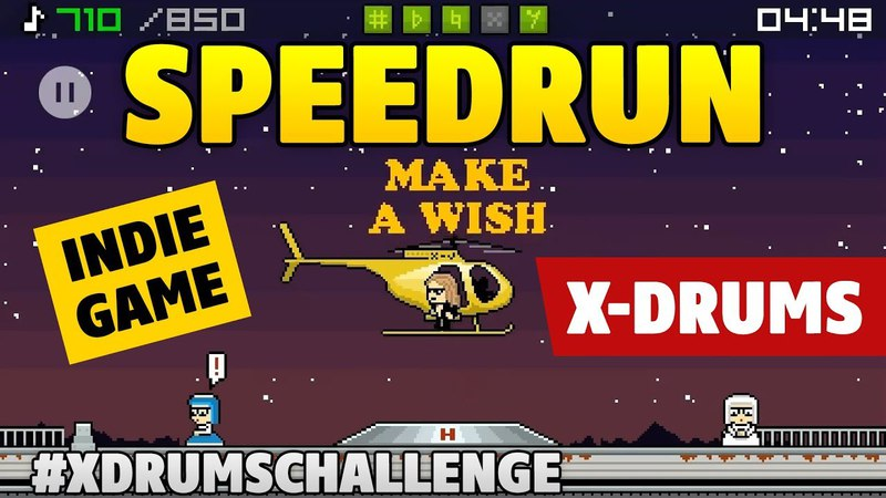 XDrums SpeedRun for 4-49 by Kaminari. Indie game for PC and Android with Yoshiki from XJapan