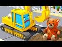 Bagger POL und Neugierige Freunde - Geschenk zum Geburtstags - 3D Cartoons für kinder