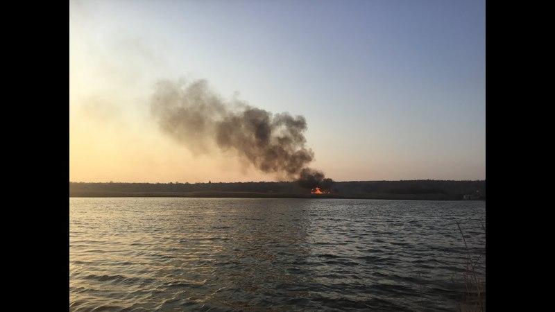Пожар на «Гарячке» в Славянске в день празднования Пасхи - 10.04.2018