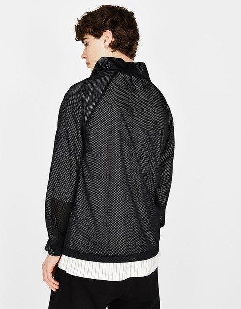 Куртка из сетчатой ткани