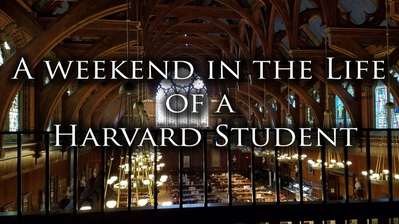 A Weekend in the Life of a Harvard Student
