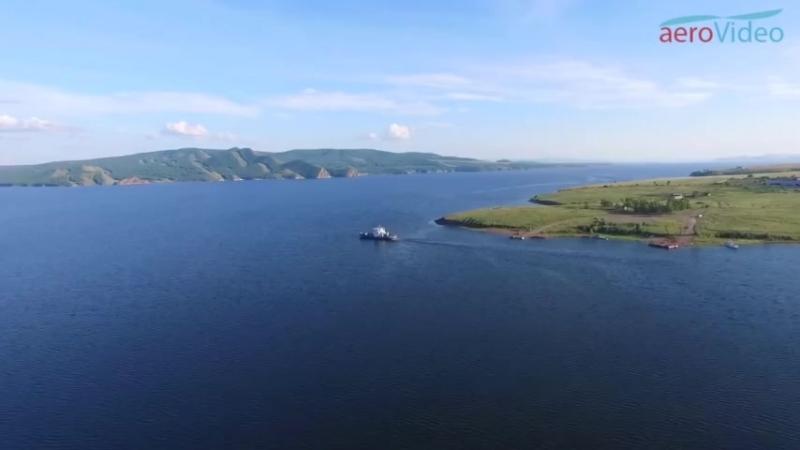 Моя малая родина .Красноярское водохранилище, река Енисей, Новосёловский район, видео снято с квадрокоптера, студия aerovideo