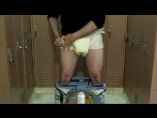 how to put on attends adult diaper for all day discreet use from the standing position.