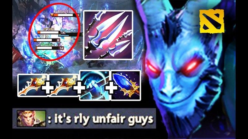 100% UNFAIR Cancer Riki Carry 2x Rapier Aghanim Build by Secret.Ace Fun game 7.13 Dota 2