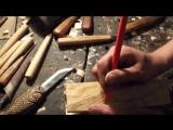 Резьба по дереву. Изготовление ножен в виде рыбы для ножа рыболова