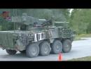 M1128 Stryker Mobile Gun System 105mm Tank Gun Firing