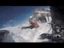 Спасение провалившегося в трещину на леднике на австрийском горнолыжном курорте