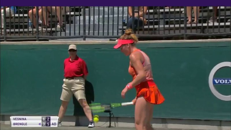 Elena Vesnina vs Madison Brengle Highlights HD Volvo Car Open Charleston 2018
