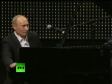 Putin over the top of Blueberry Hill with piano solo