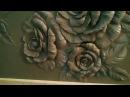 Совсем коротко о моём барельефе розы,гипс