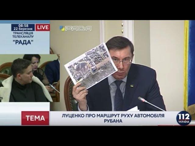 Рубан планировал нападение на кортеж президента, - Луценко