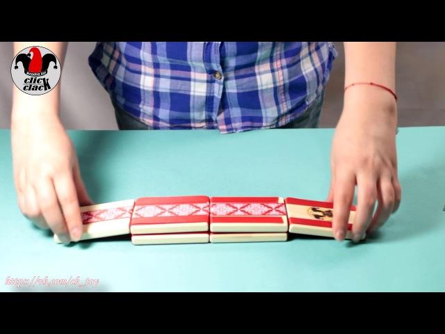 Фокусы с монетками от Клик Клак. Удивительная деревянная игрушка головоломка Click Clack