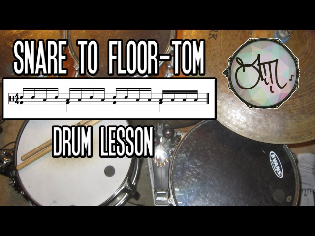 Snare to Floor Tom - Drum Lesson w/ Sheet Music - Andre Marchildon