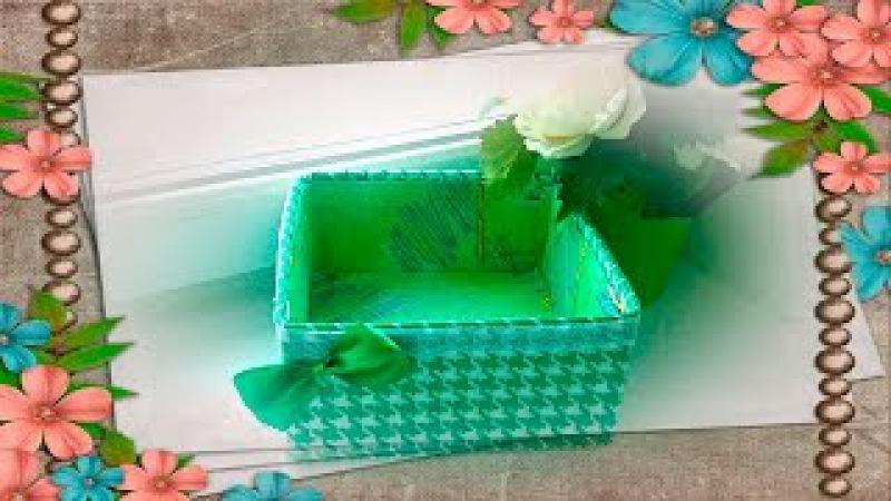 Декорирование коробки тканью. Как обтянуть коробку тканью